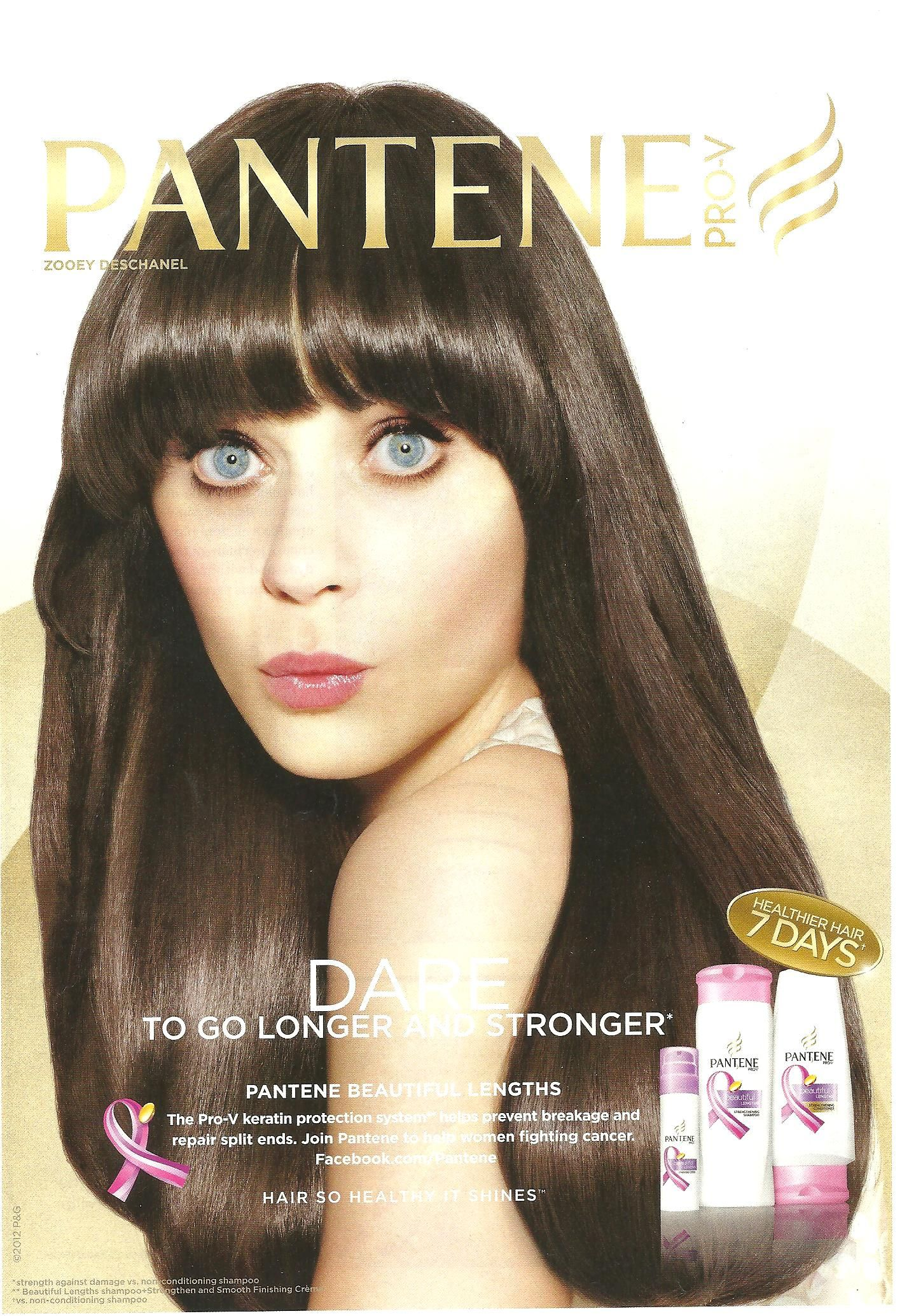 Where can you find the black-grey dress in the Pantene advert?