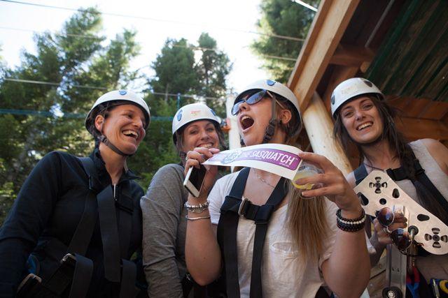 They did it! Would you? #SasquatchZipline #Whistler #Ziptrek #adventure #zipline #travel