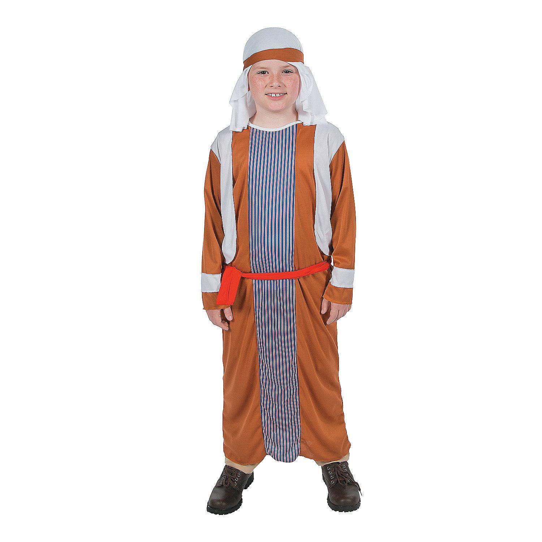 Kids Boys White Arabian Shepherd Christmas Nativity Fancy Dress Costume Outfit
