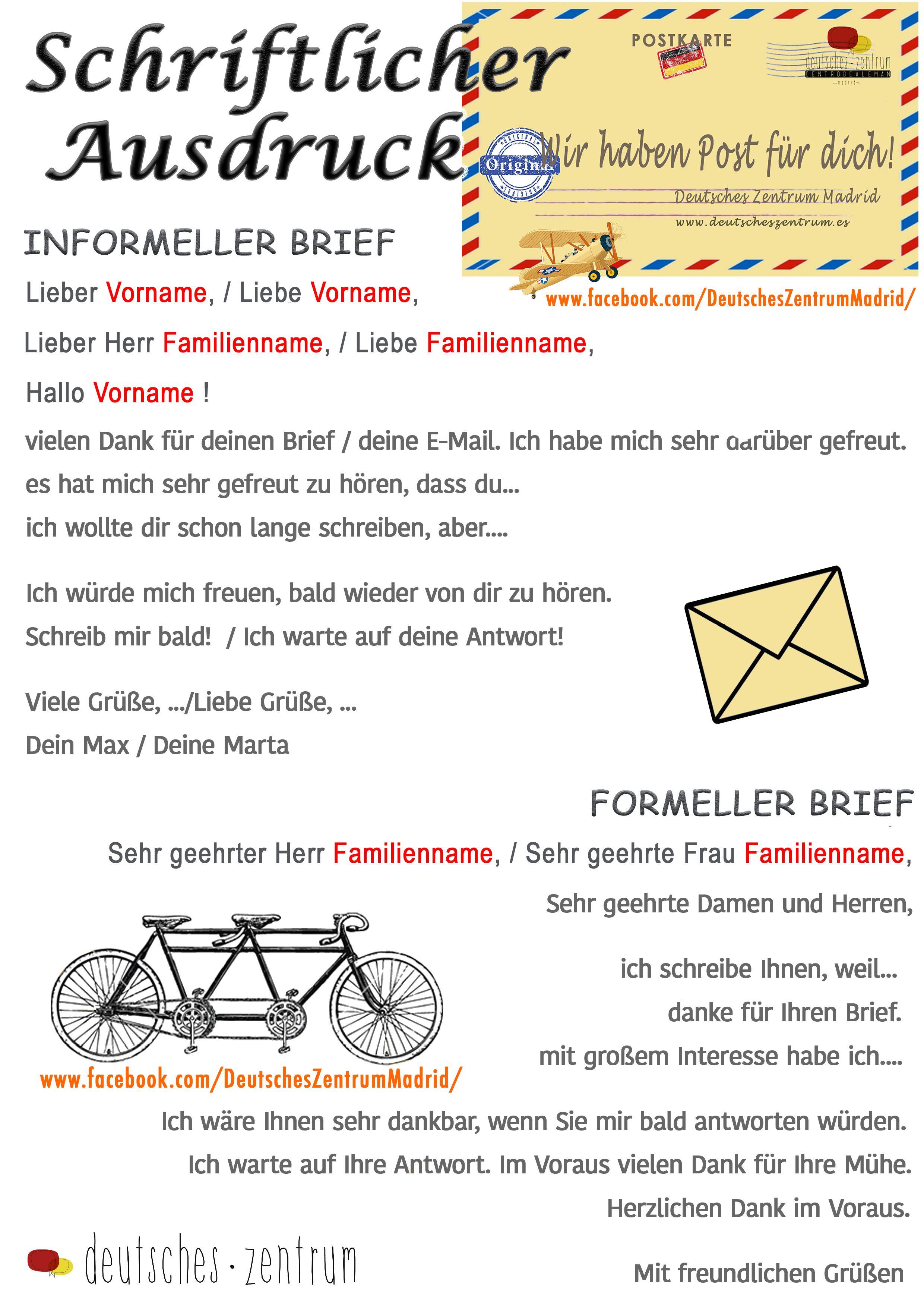 Briefe Richtig Schreiben Klasse 5 : Briefe schreiben deutsch wortschatz grammatik german