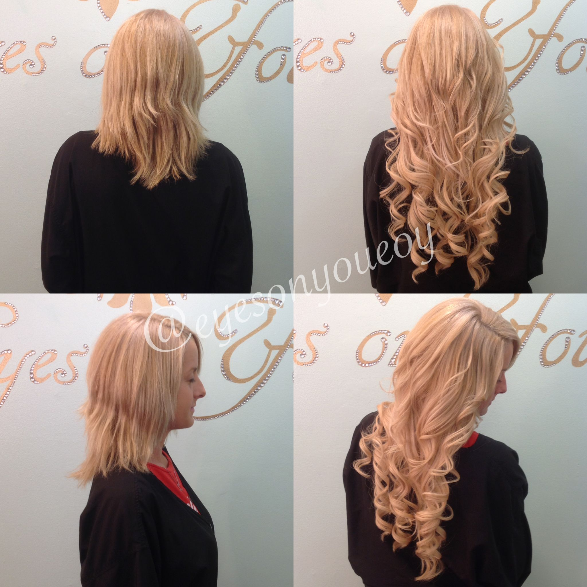Individual Keratin Bond Hair Extensions To Add Length And Volume