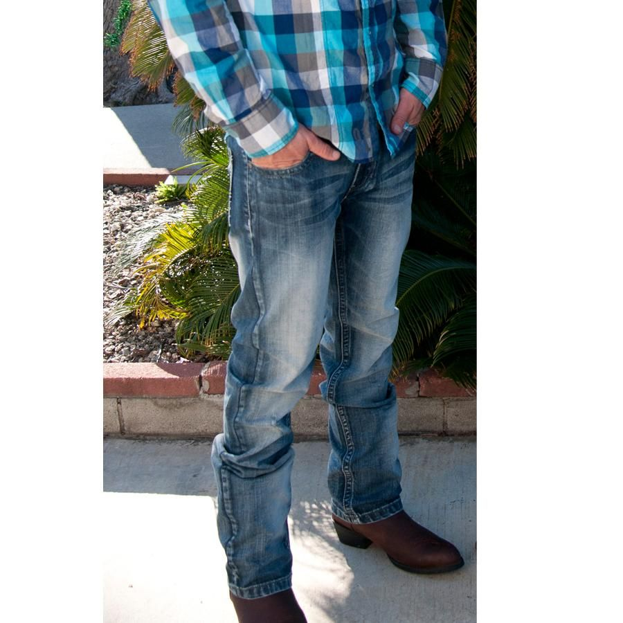 D&D Texas Outfitters | Petrol Mens Clinton Straight Cut Jeans | D&D Texas Outfitters