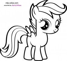 Scootaloo Coloring Pages My Little Pony Image With Images My