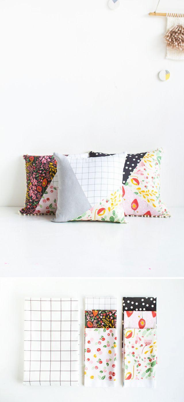 Diy pattern blocked pillow fall for diy pattern blocks pillows