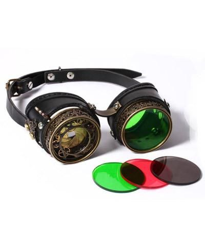 e9b050183828 Steampunk Goggles Metal and Leather with Working Iris and Interchangeable  Lenses - Victorian Foundry