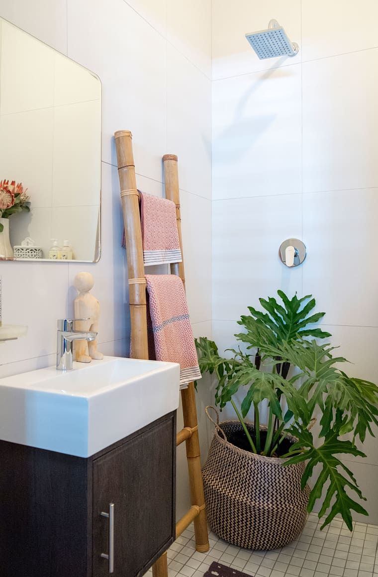 How To Get That Outdoor Shower Feel In A Windowless Bathroom Windowless Bathroom Bathroom Plants Best Bathroom Plants
