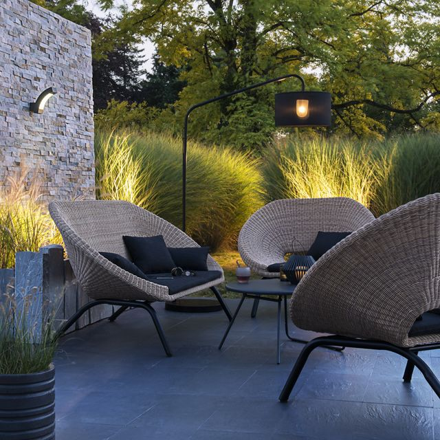Salon de jardin en rotin collection loa castorama exteriors outdoor gardens jardins et for Castorama salon de jardin