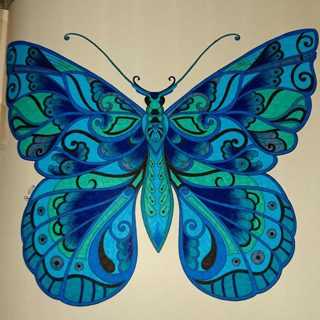 Magical Jungle Coloring Book Johanna Basford Coloring Johanna Basford Coloring Book Butterfly Art