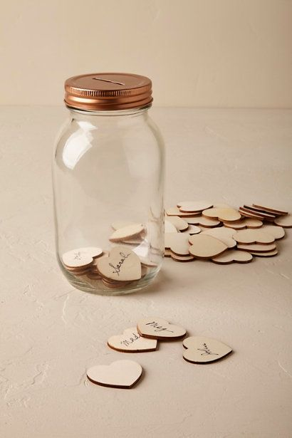 Wedding Guest Book Ideas Guest Book Alternatives Wishing Jar Guestbooks Office Products