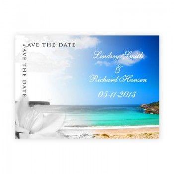 Beach Wedding Invitations - Save the Date 2 - Color Fade Beautiful Beach