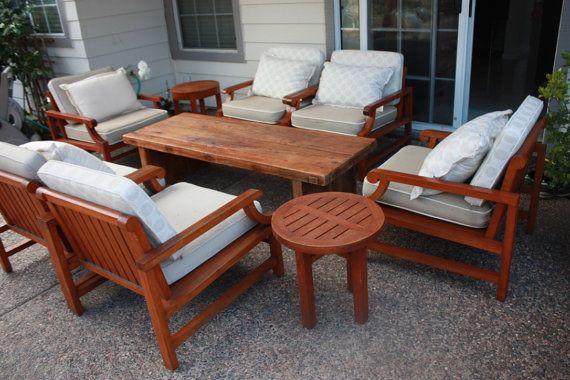 Patio Set Teak Wood Conversation Set Outdoor Furniture Deep