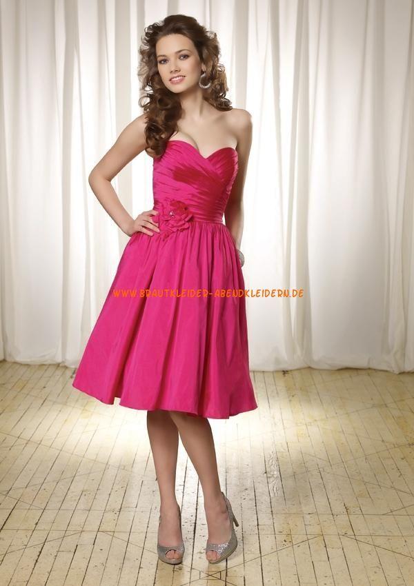 2013 Billige kurze Abendkleider pink A-Linie | Abendkleid ...