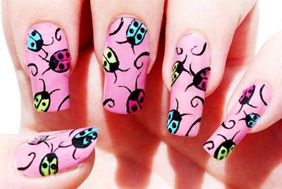 42 Cute Ladybug Nail Art Designs Nail Design Ideaz Ajaya