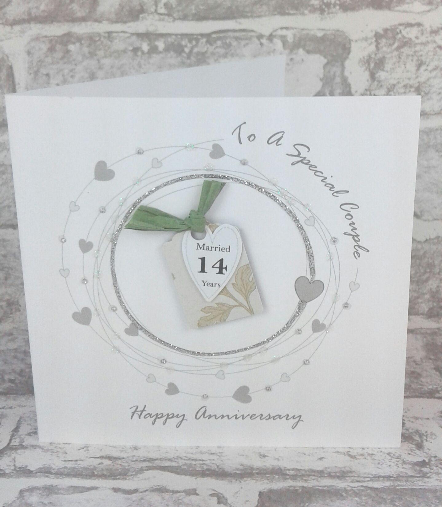 NEW*** 14th Wedding Anniversary Card Ivory Anniversary