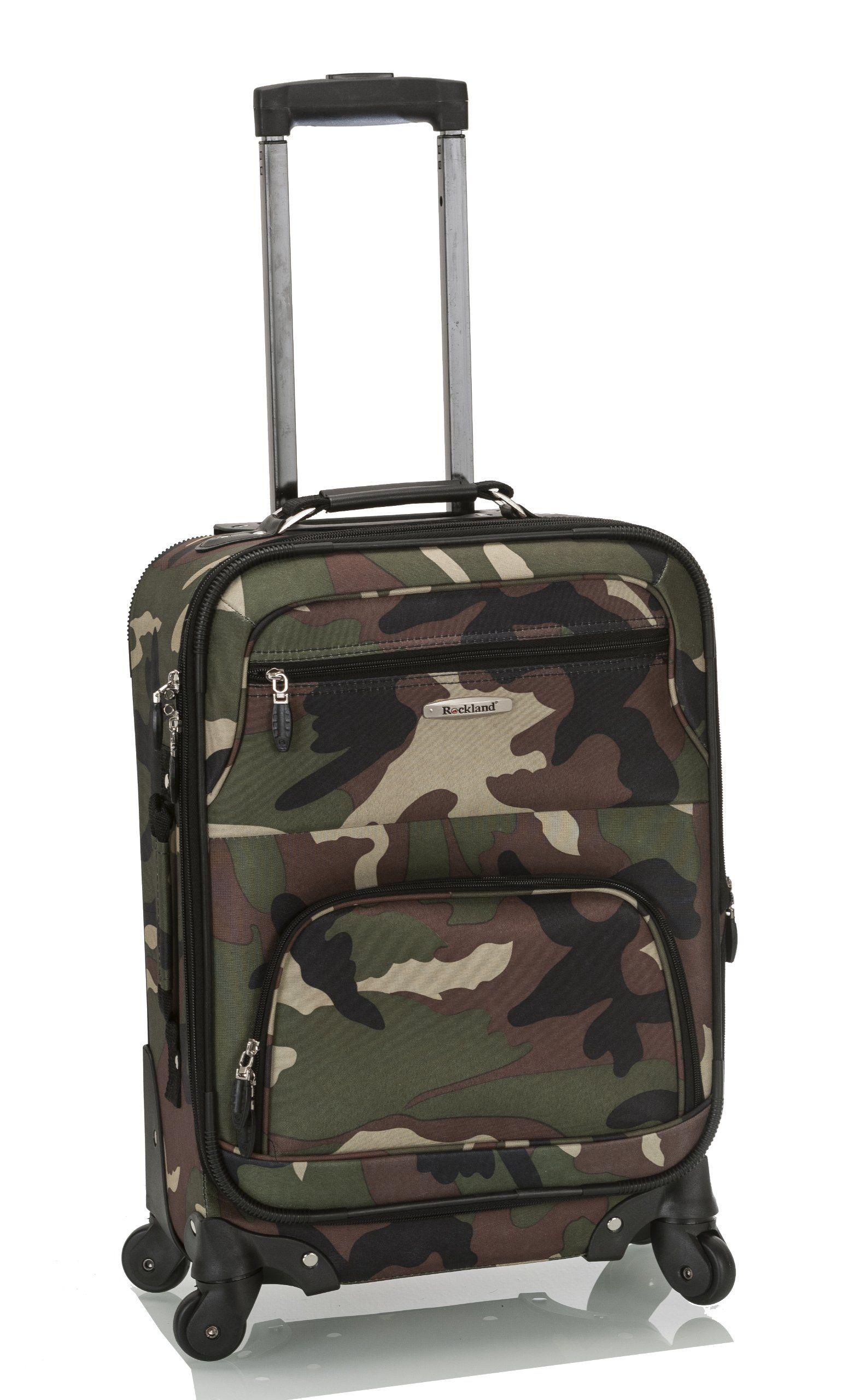dda7c9cd72fe Rockland Luggage 19 Inch Patterned Expandable Spinner Carry On, Camo ...