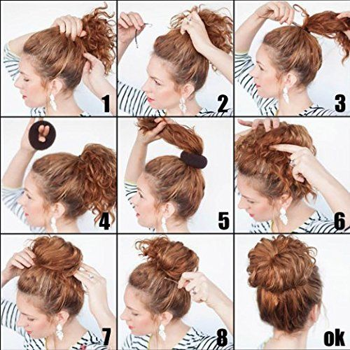 Robot Check Hair Donut Hair Styles Curly Bun Hairstyles