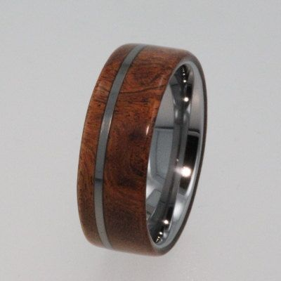 Tungsten Ring Tungsten Wood Wedding Band by jewelrybyjohan