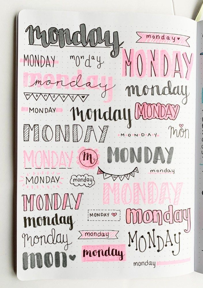 Bullet Journal Weekly Headers For You To Copy Titulos Y Apuntes