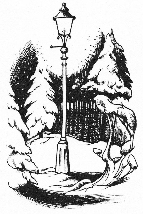 Narnia lamppost by Pauline Baynes (1914-2008), illustrator of C. S. ...