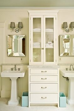 Double Pedestal Bathroom Sink With Cabinet Narrow Bathroom