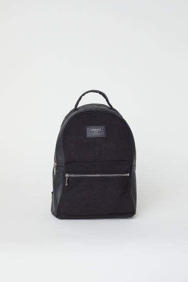 c429f82d7f03 H&M Backpack - Black в 2019 г. | Рюкзак | Black backpack, Faux ...