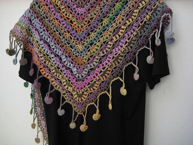 mille colori baby 4 pelotes ravelry fanalaines berry shawl encercl - Laine Lang Mille Colori Baby