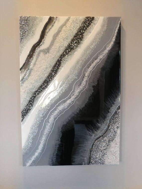 Large geode resin art wall art resin painting resin art