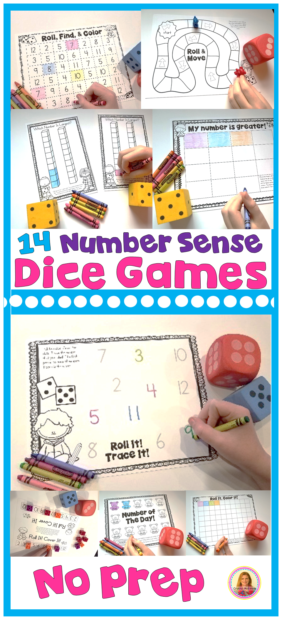All You Need Are Dice 14 Number Sense Math Center Dice Games Kindergarten Math Games Dice Math Games Kindergarten Games