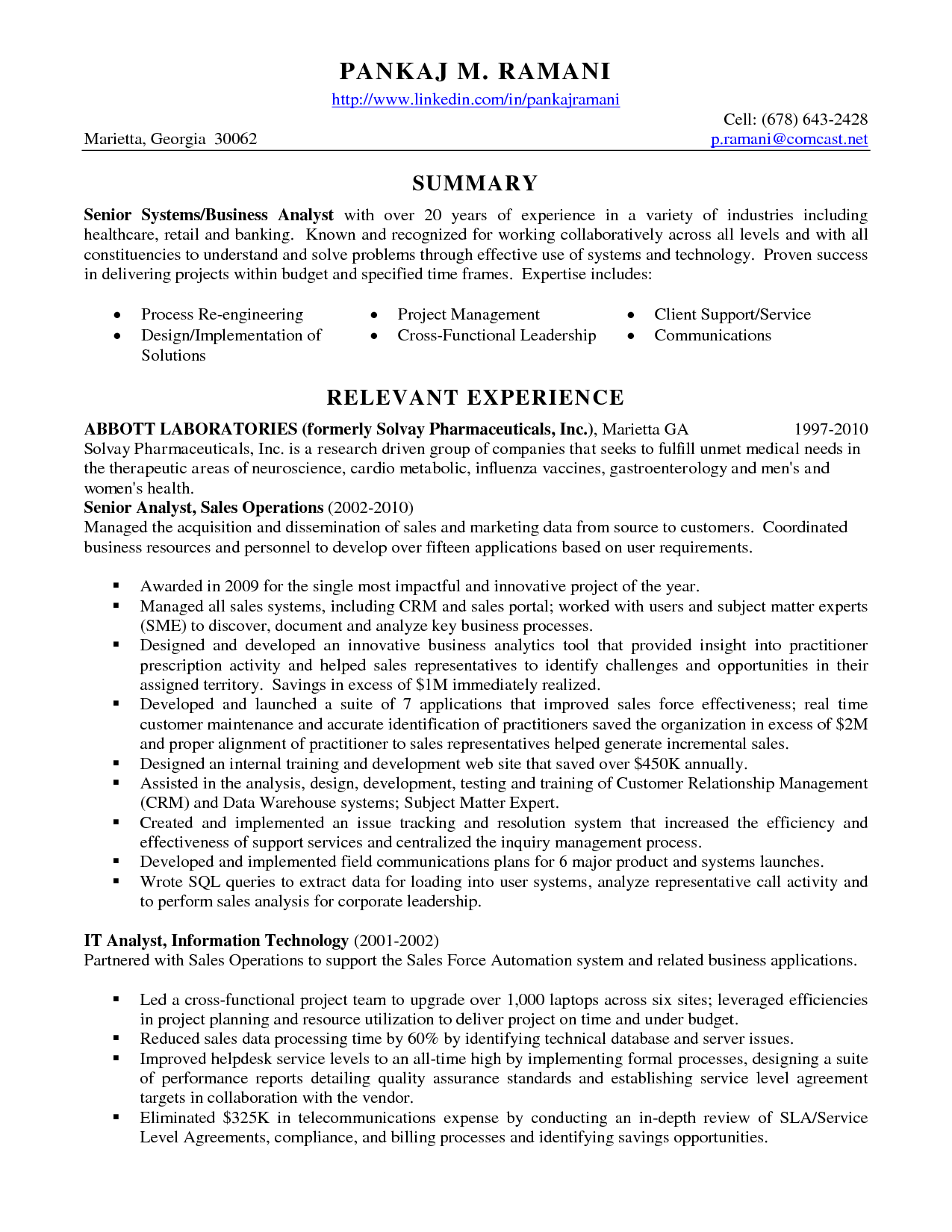 Senior Data Analyst Cv Resume Format Best Templates