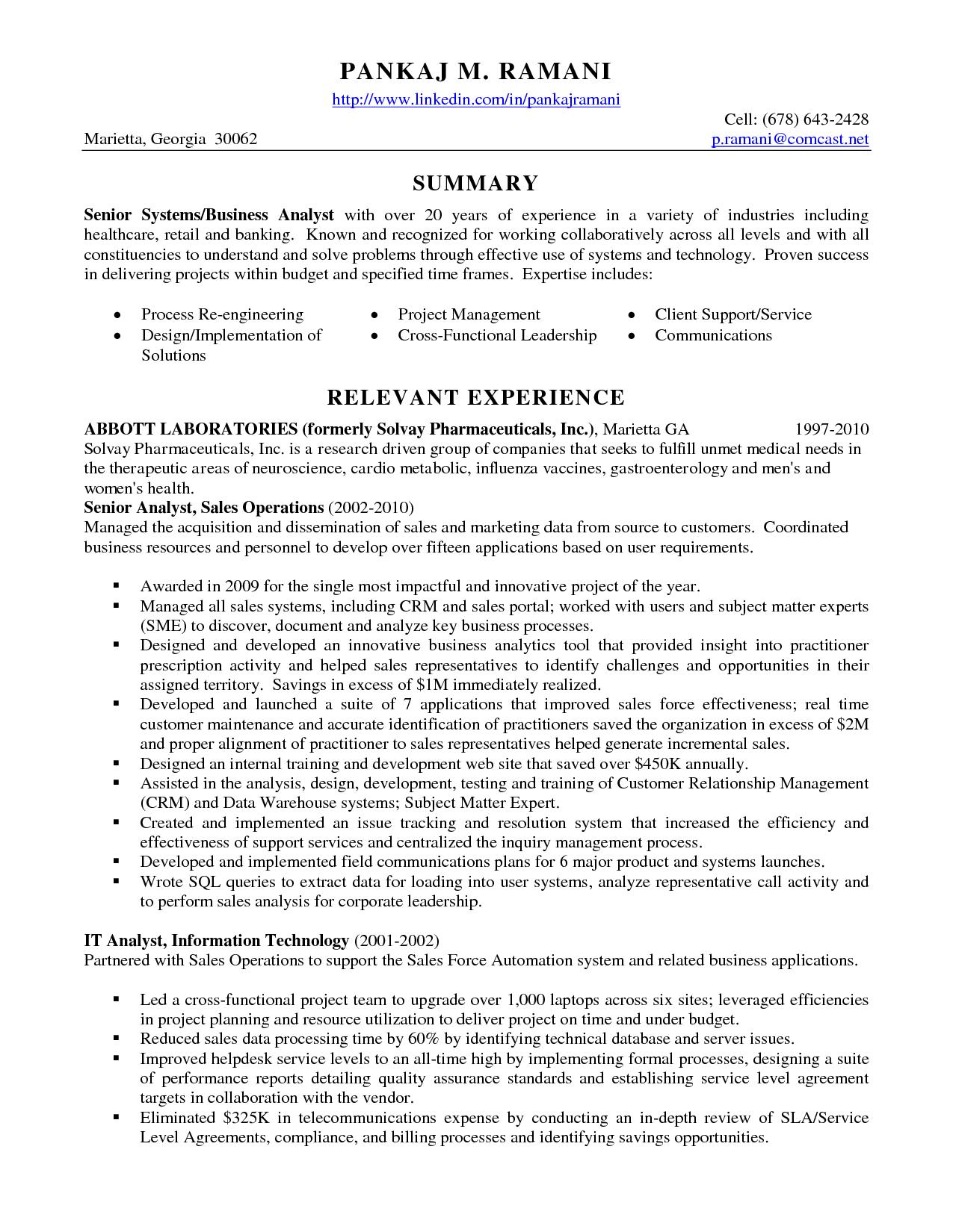 Senior Data Analyst Cv Resume Format Best Templates Work
