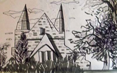 St Machars Cathedral, pens, A5
