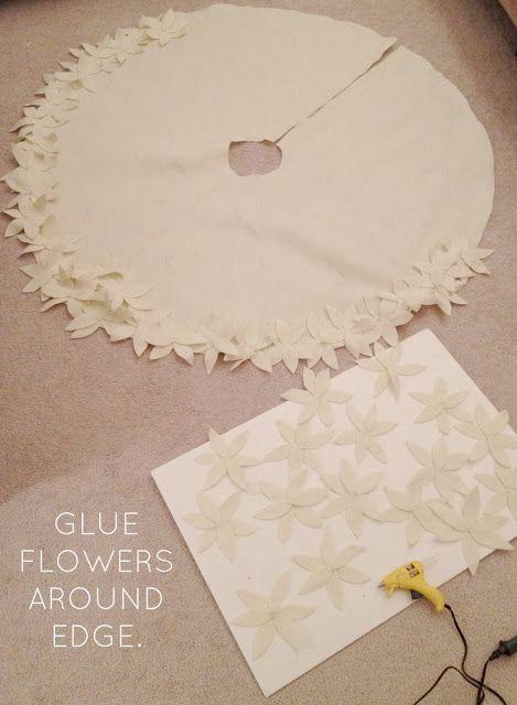 livelovediy how to make a no sew christmas tree skirt