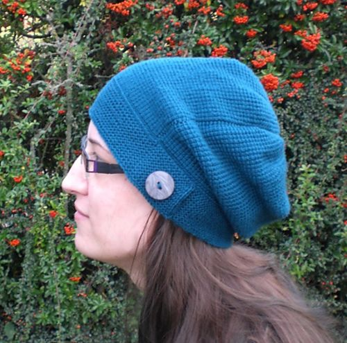 Kylie Hat - free Tunisian Crochet pattern! Matching fingerless mitts ...