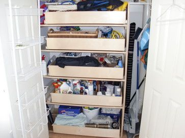 Pullout shelves/hall closet
