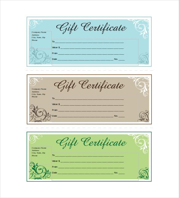 12 Business Gift Certificate Templates Free Sle Gift Certificate Template Word Free Gift Certificate Template Gift Certificate Template