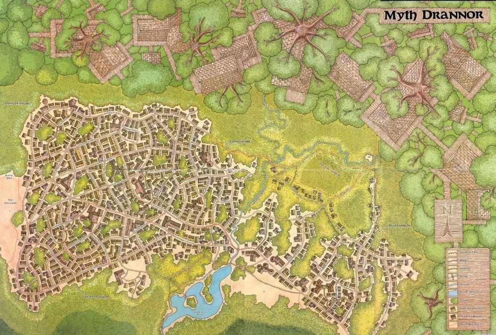 Myth Drannor Fantasy City Map Fantasy Map