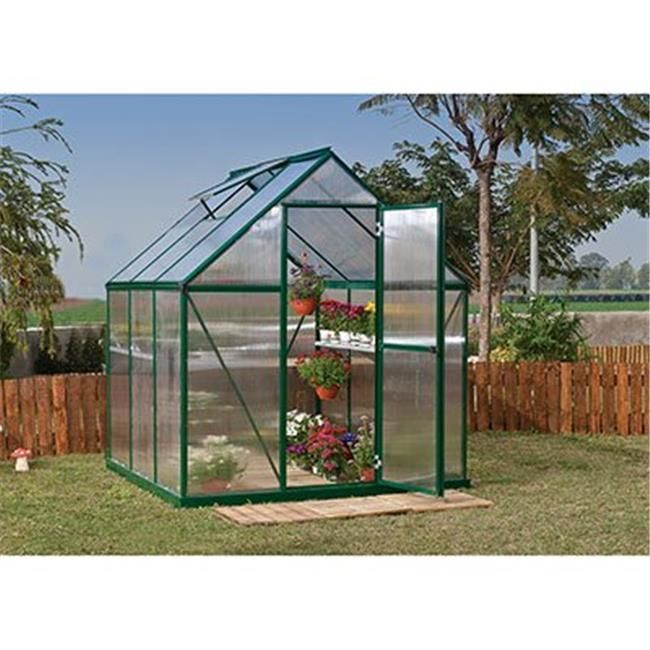Palram HG5006G Mythos Greenhouse - 6 x 6 ft. - Forest Green,  #Forest #forestLandscapingBacky... -  Palram HG5006G Mythos Greenhouse – 6 x 6 ft. – Forest Green,  #Forest #forestLandscapingBackyar - #clematis #CottageGardens #Dahlias #forest #forestLandscapingBacky #Gladioli #green #greenhouse #hg5006g #mythos #palram #ShadeGarden