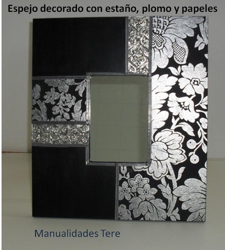 Manualidades bellas artes y enmarcacion tere mota for Espejos con marcos decorados