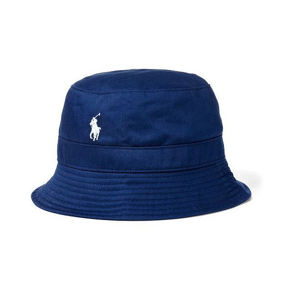e00542f5fa336 Polo Ralph Lauren Twill Bucket Hat ( 38) ❤ liked on Polyvore featuring  men s fashion
