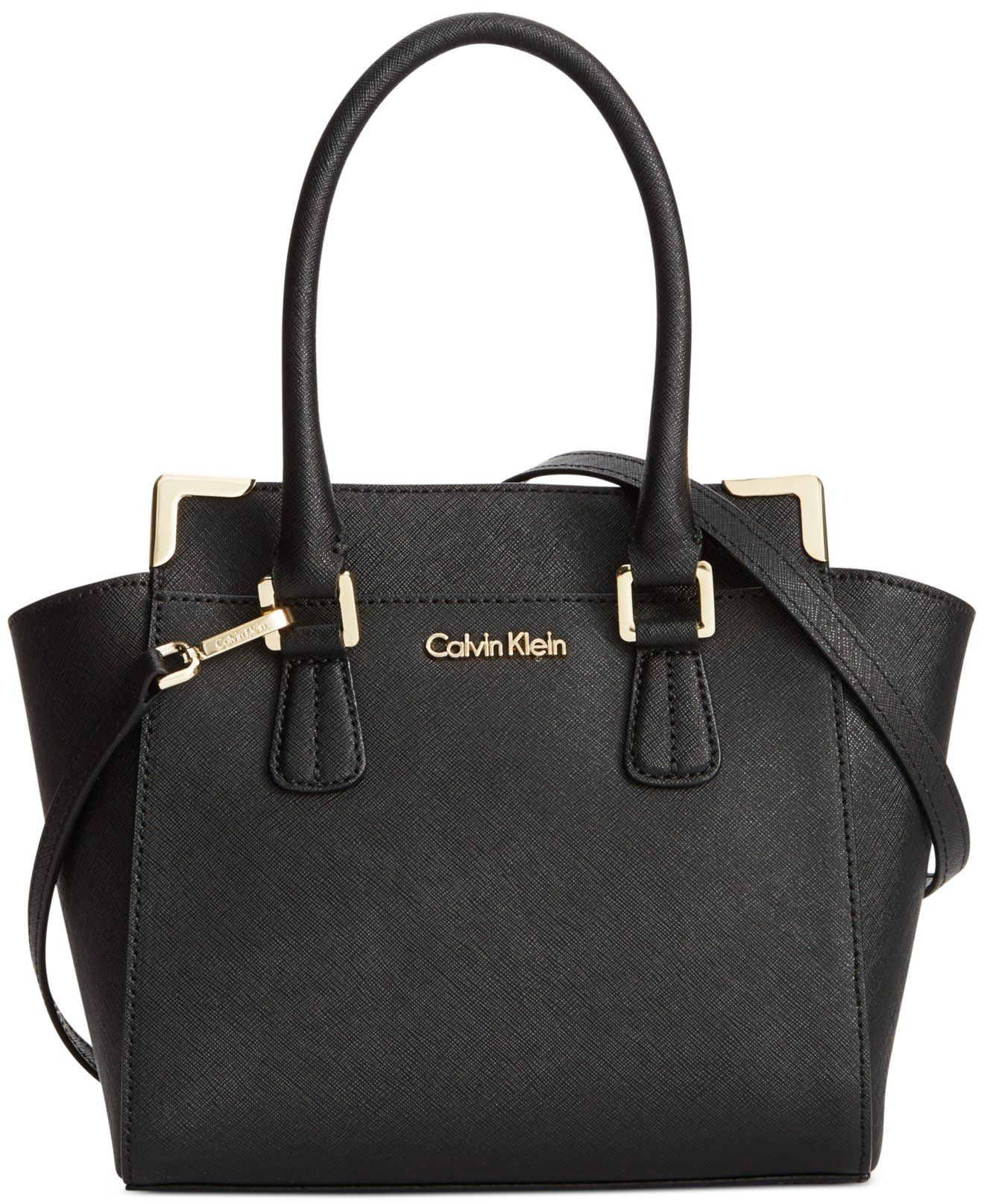 3915de72a5 Calvin Klein On My Corner Saffiano Crossbody - Handbags & Accessories -  Macy's