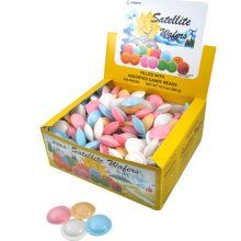 """Satellite wafers~""""Candy UFO's""""...these things send me on an instantaneous trip to my childhood."""