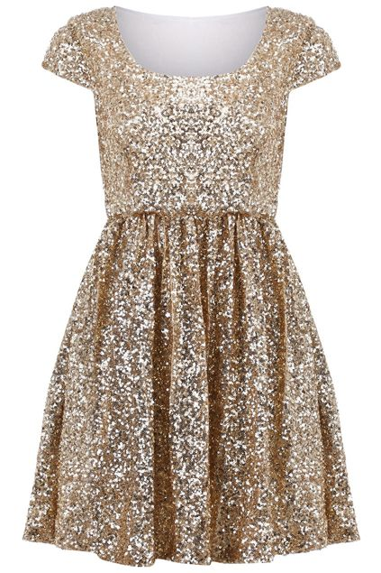 Paillettes Apricot Shift Dress - This dress is too short, but I'm thinking-how often will I be able to wear a dress like this? Wedding day on July 4th seems to make sense to wear a dress that makes me look like a firework, bombs bursting in air,or shining stars!