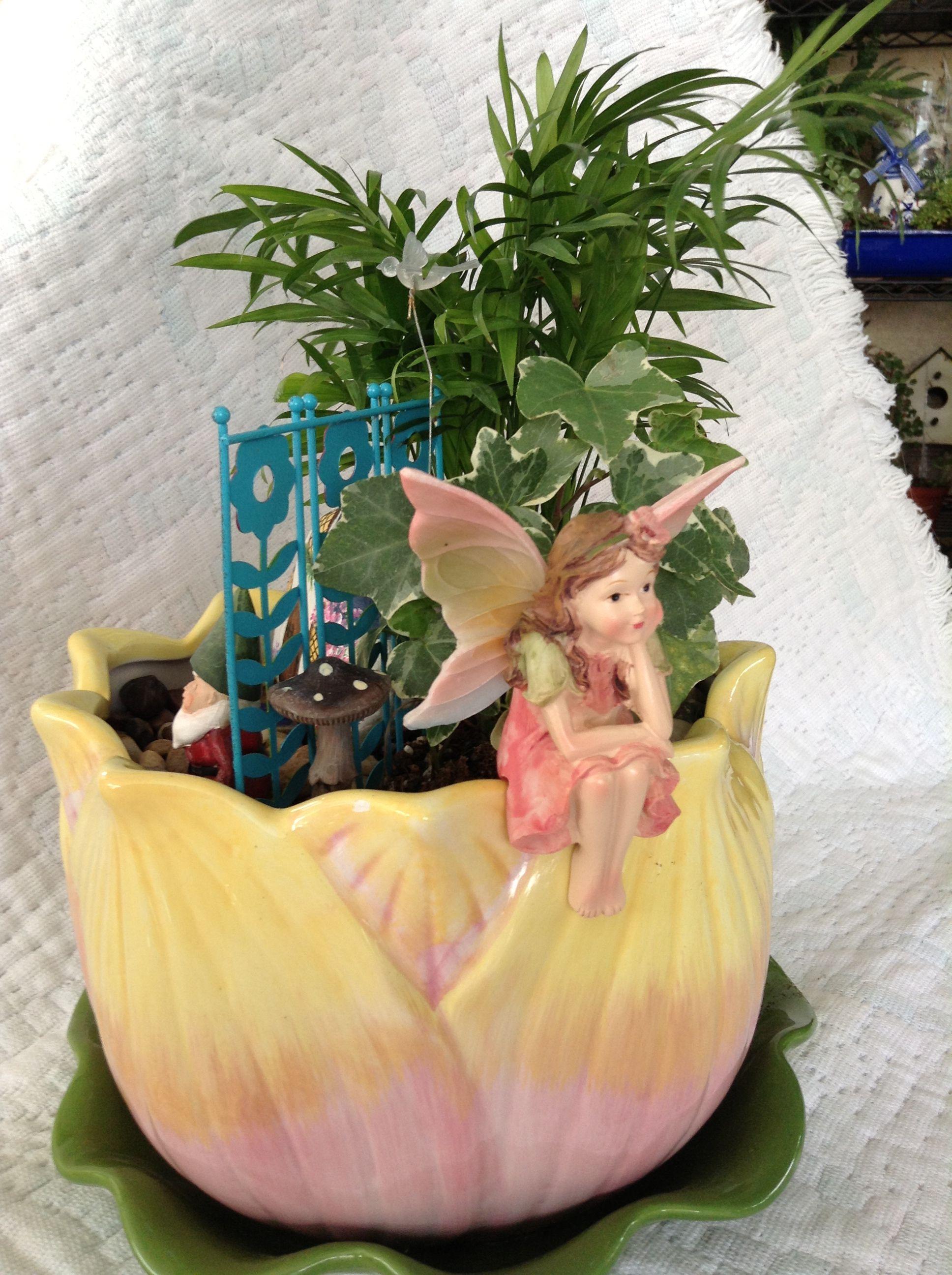 Fairy from joanns flower pot from walmart flower pots