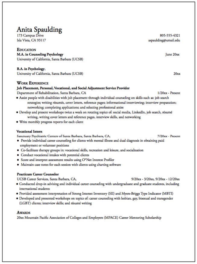 Sample Job Placement Resume  HttpExampleresumecvOrgSample