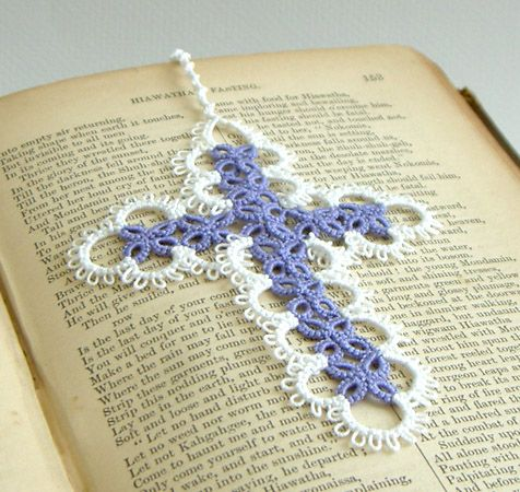 tatted bookmarks free patterns | ... working it up as a bookmark ...