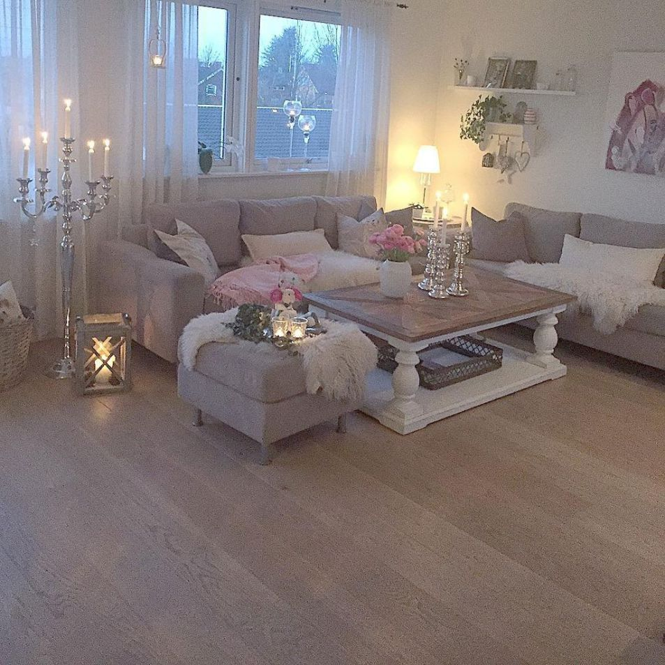 Farmhouse shabby chic living room decor ideas (39)   Chic ...