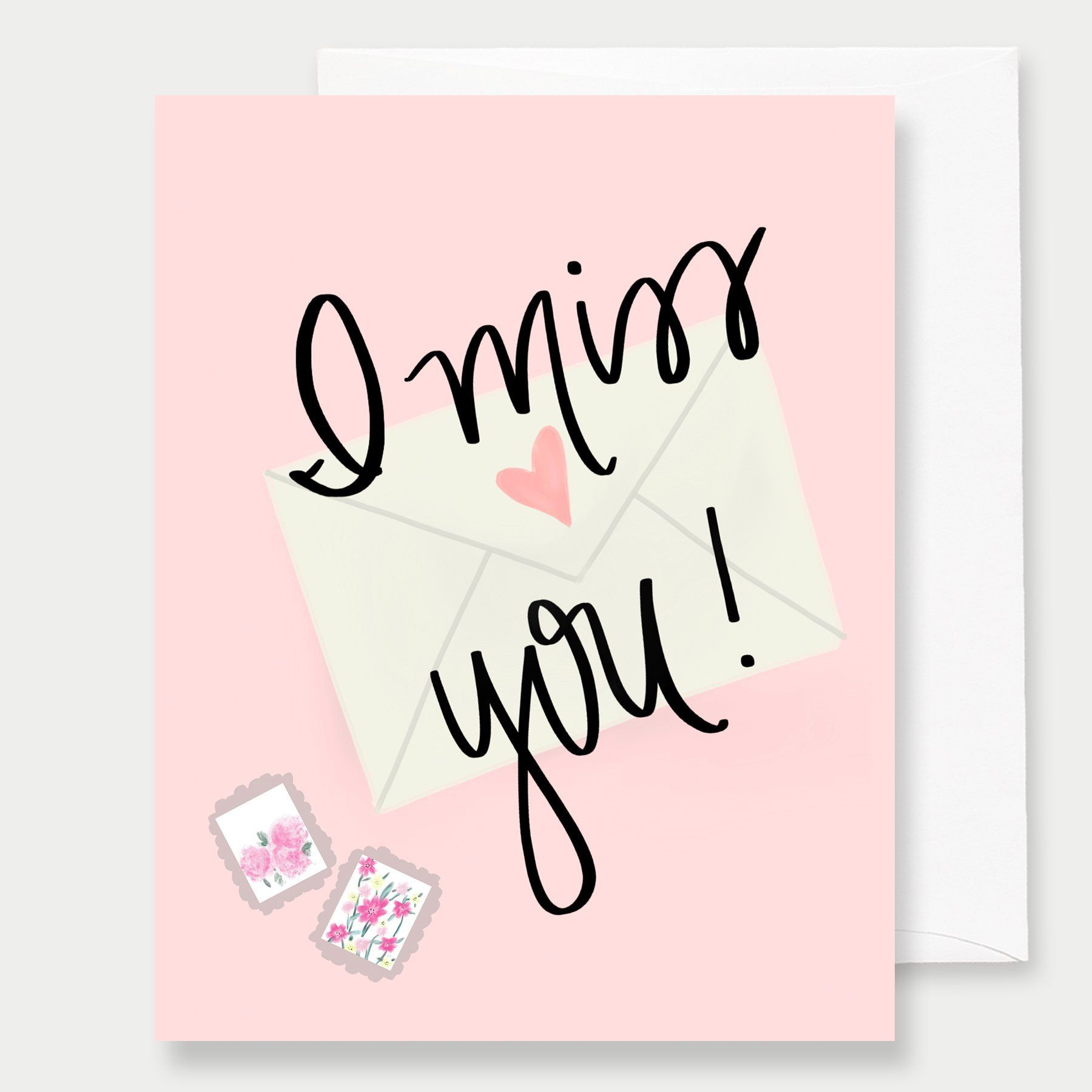 I Miss You A2 Greeting Card Products Pinterest Gift