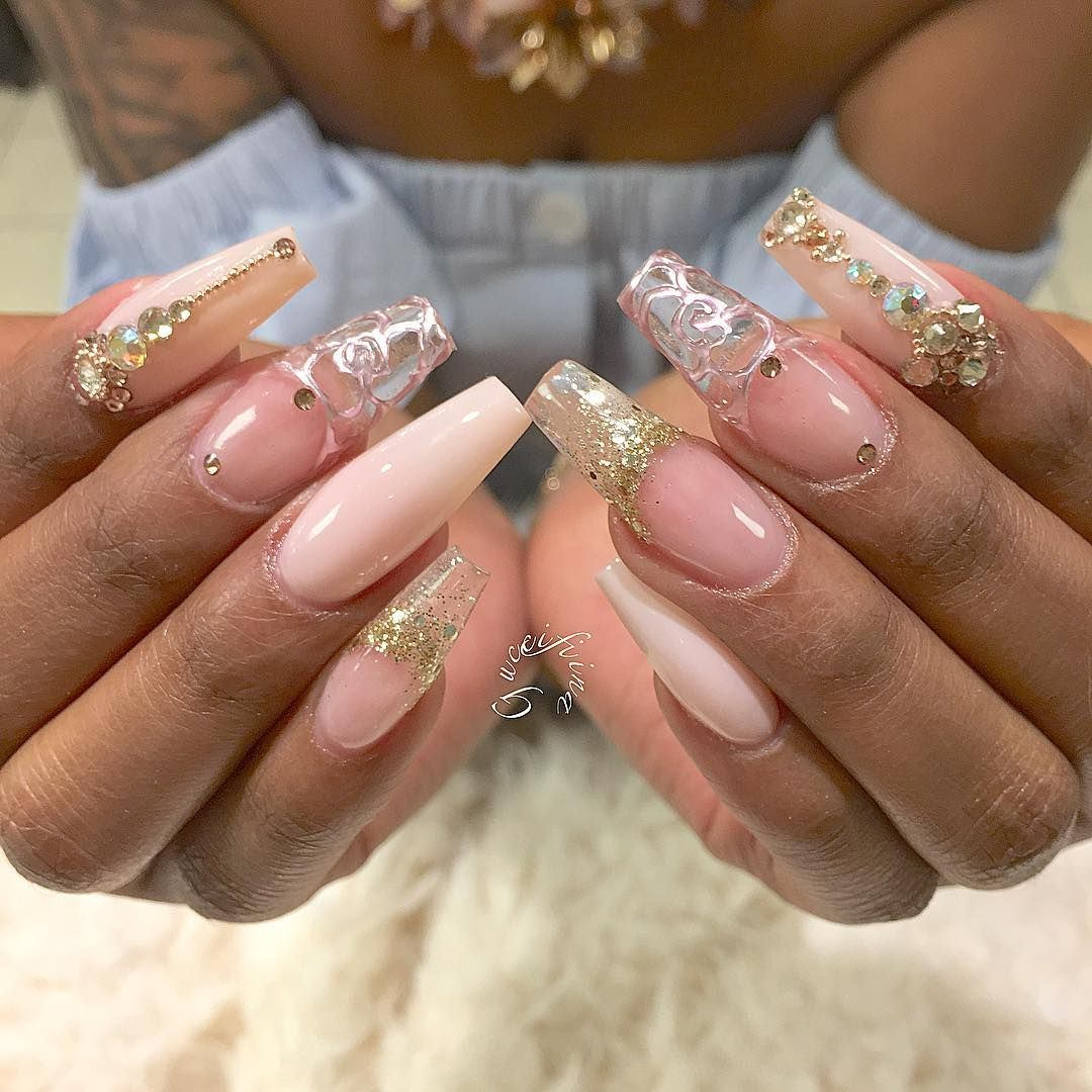 Pin by Jules Henderson on New Nails | Pinterest | Long nail designs ...
