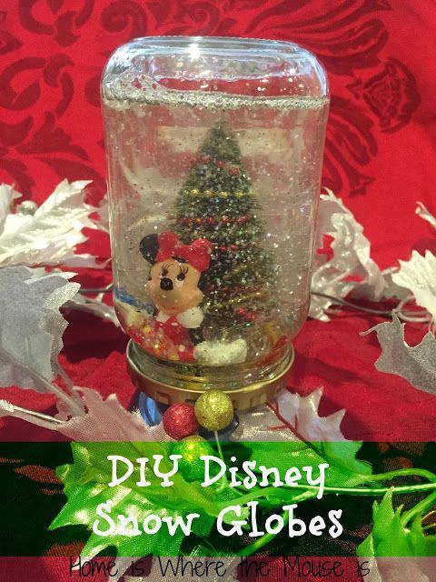 Disney christmas craft bring the magic of walt disney world during disney christmas craft bring the magic of walt disney world during the holidays home by making a diy disney snow globe diy projects pinterest solutioingenieria Gallery