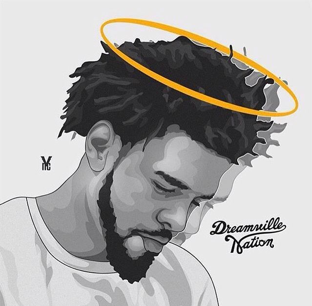J Cole Cartoon J Cole Art J Cole Drawing J Cole